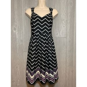 LOFT Black & White Striped Dress Sundress Size 0